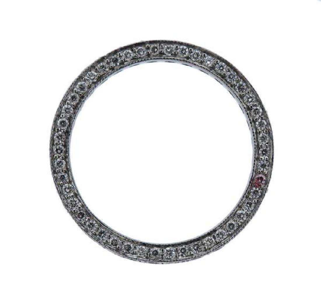 Martin Flyer Platinum Diamond Eternity Wedding Ring - 2