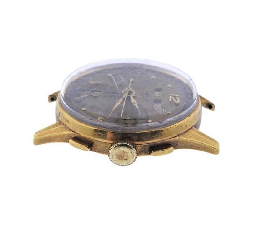 Heuer 18K Gold Chronograph Annual Calendar Watch - 3