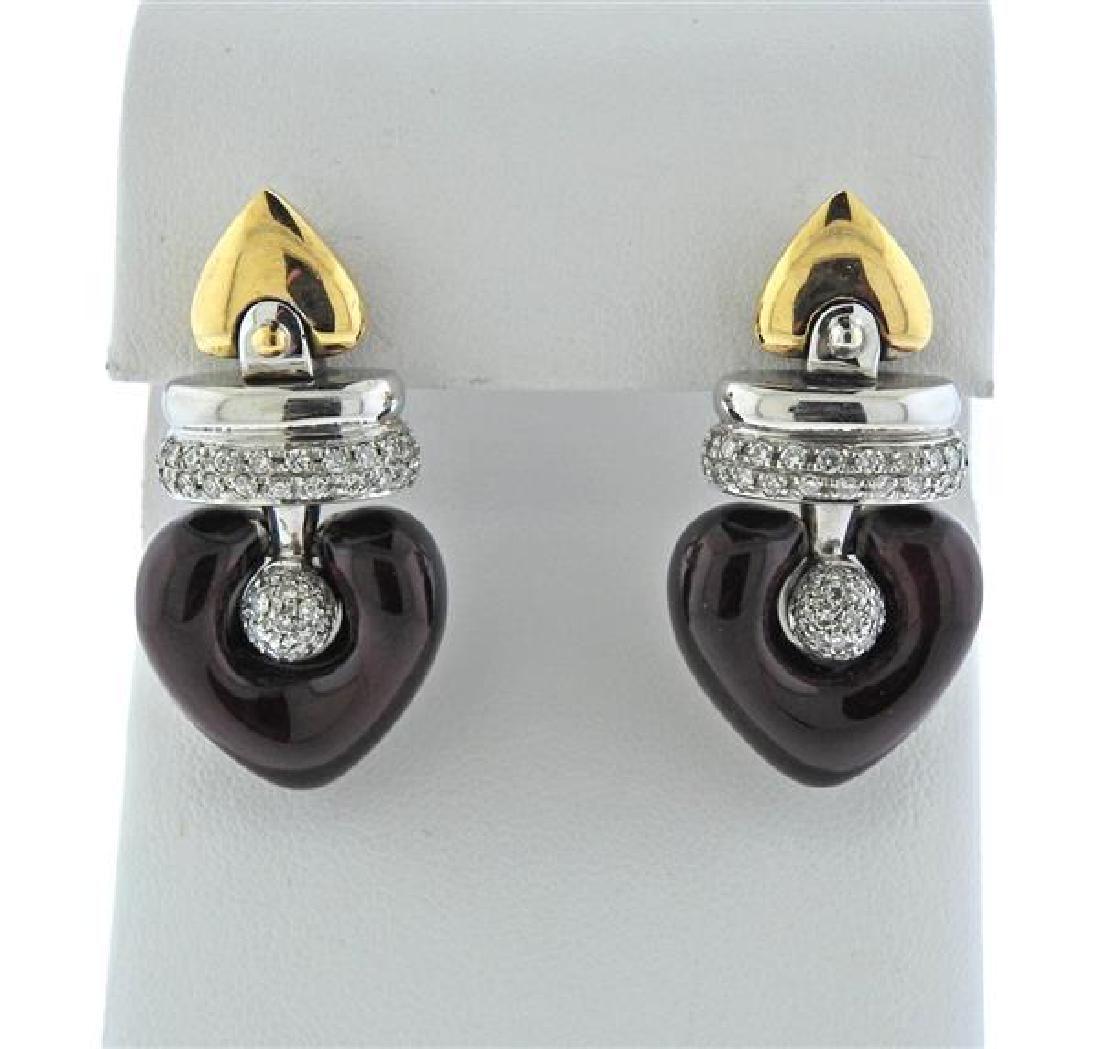 La Nouvelle Bague 18K Gold Diamond Enamel Heart