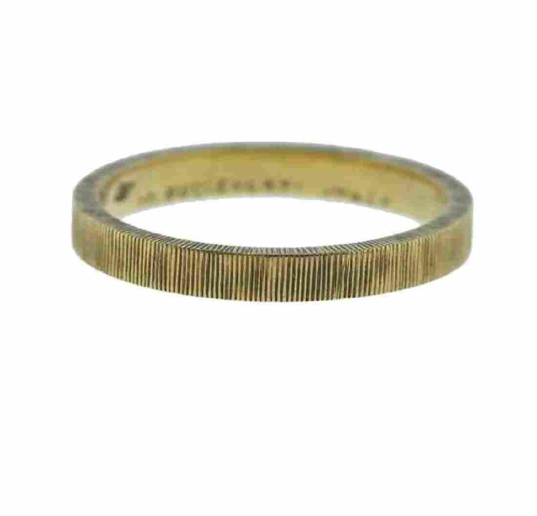 M. Buccellati 18K Gold Wedding Band Ring