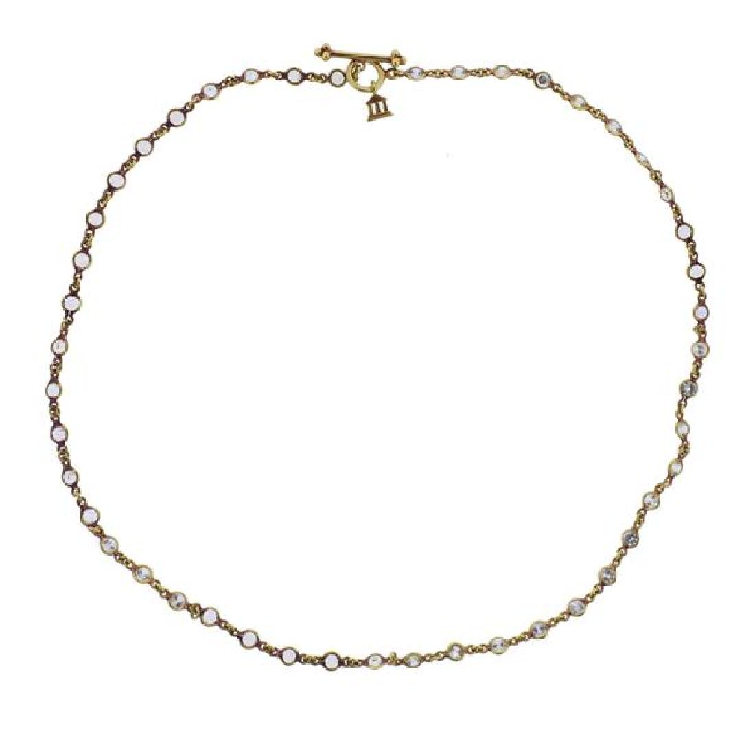 Temple St. Clair 18K Gold Clear Stone Necklace