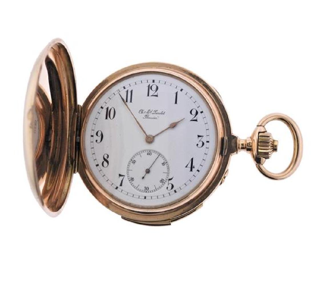 C.E. Lardet Fleurier Gold Minute Repeater Pocket Watch