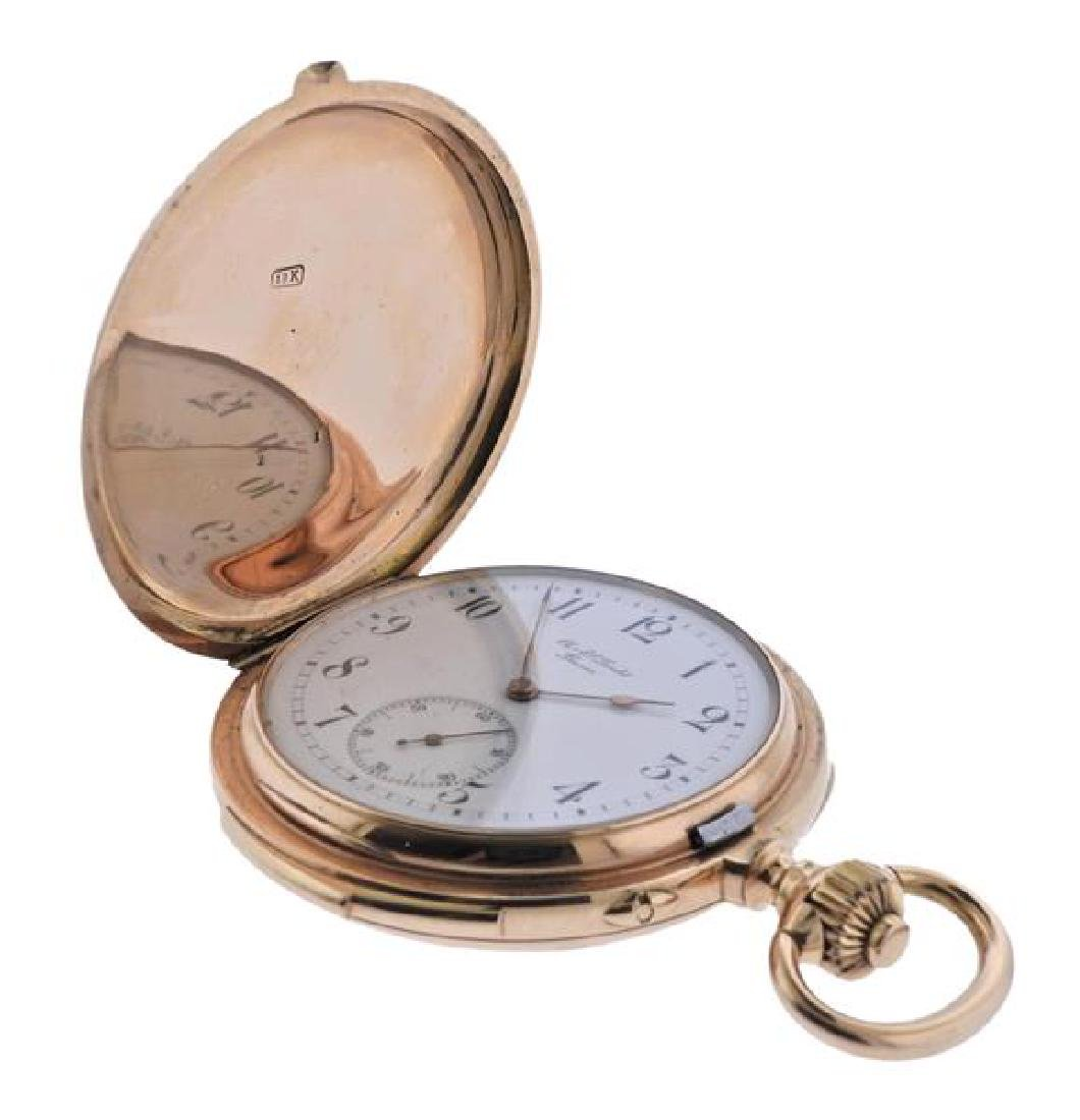 C.E. Lardet Fleurier Gold Minute Repeater Pocket Watch - 3