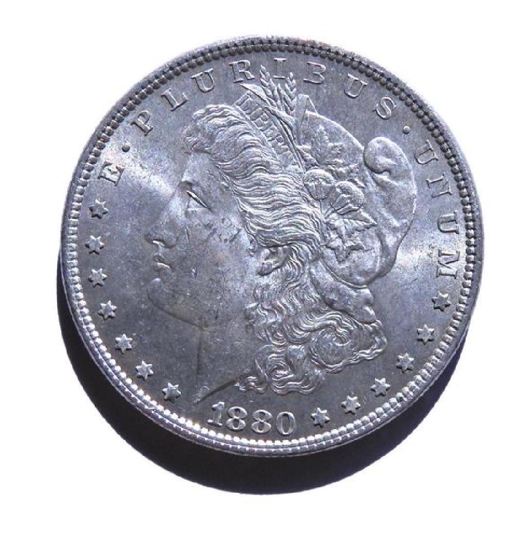 1880 Silver Morgan US Dollar Coin