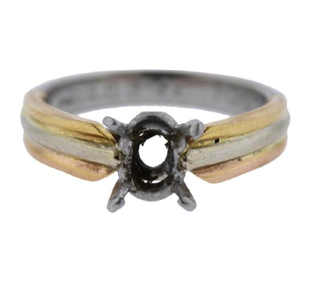 Cartier Trinity 18k Gold Platinum Engagement Ring