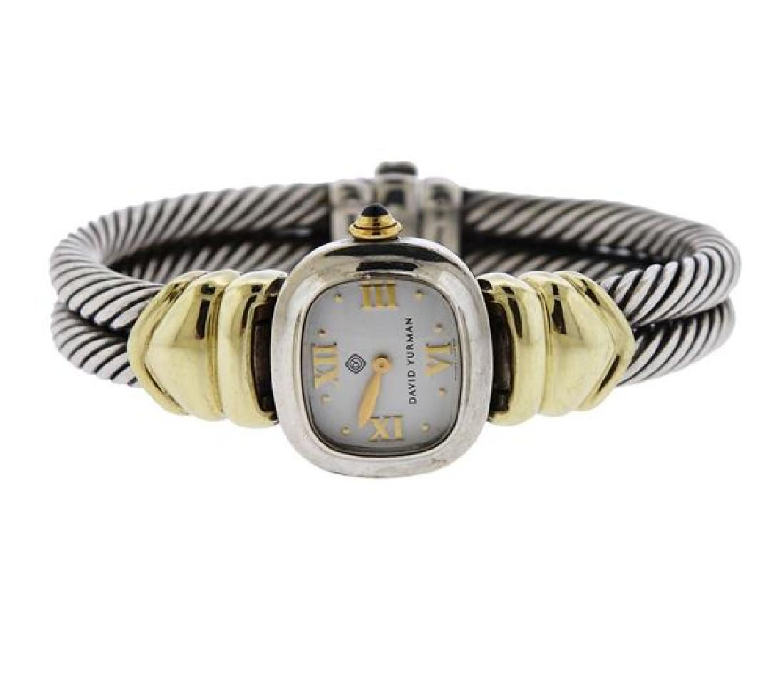 David Yurman Renaissance 14K Gold Silver Cable Watch