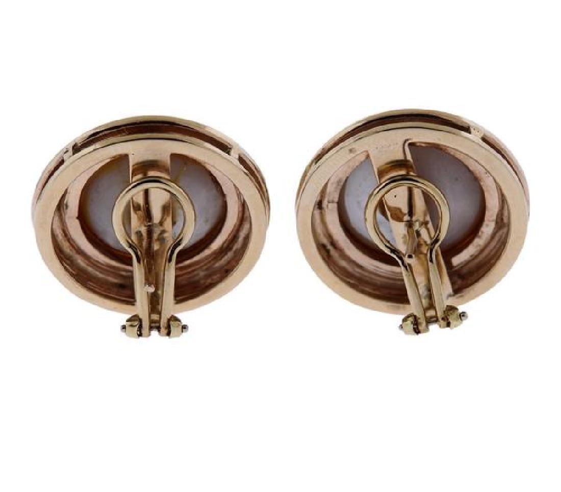 14k Gold Pearl Earrings - 3