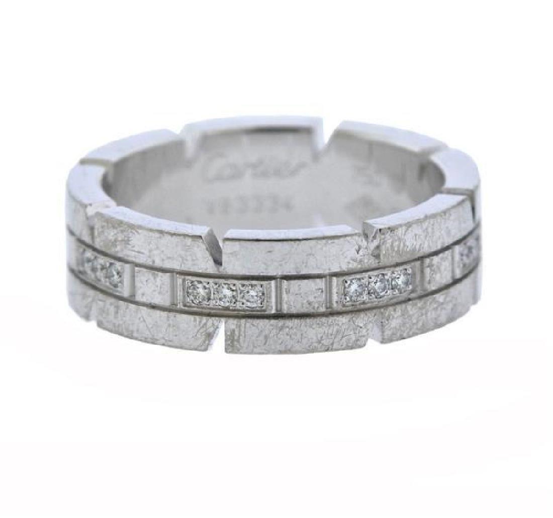 Cartier Tank Francaise 18K Gold Diamond Band Ring