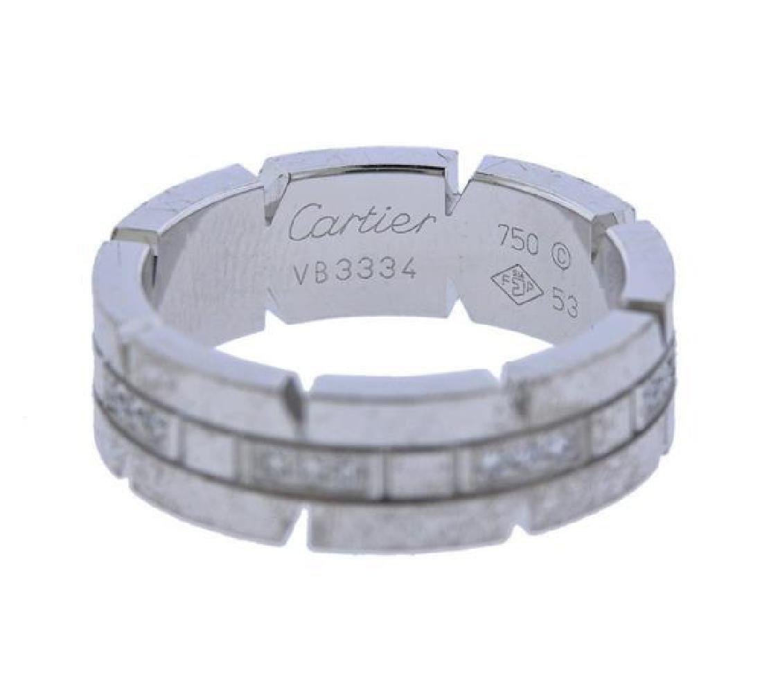 Cartier Tank Francaise 18K Gold Diamond Band Ring - 2