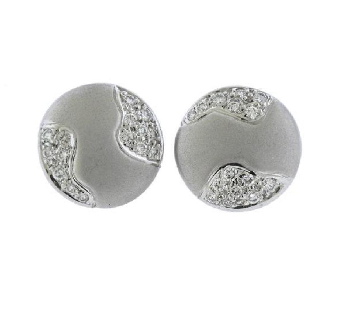 Tenthio 18K Gold Diamond Earrings