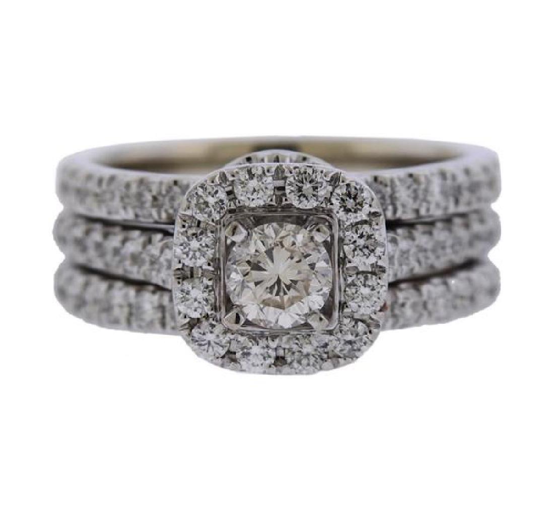 Neil Lane 14K Gold Diamond Engagement Wedding Ring Set