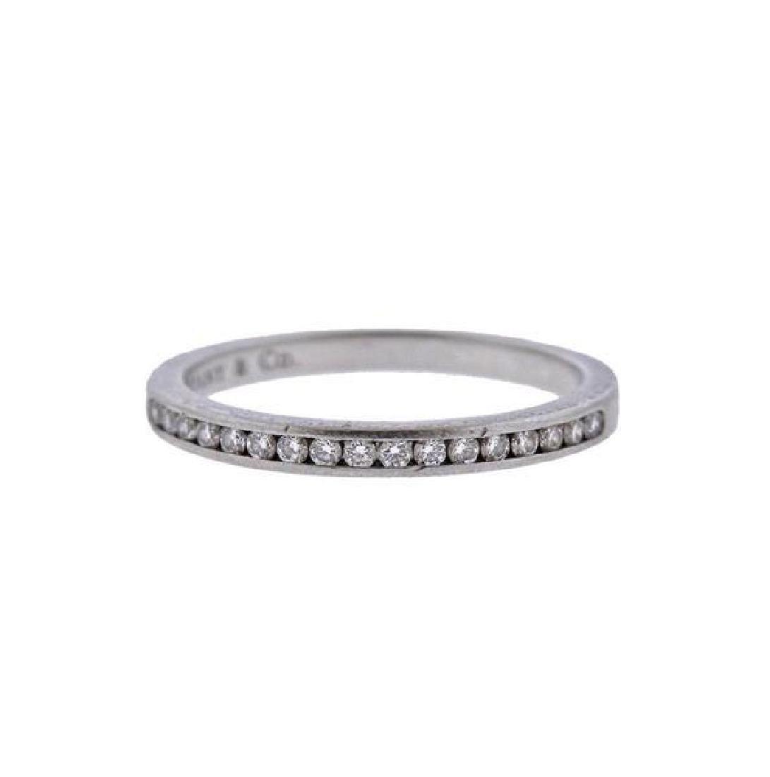 Tiffany & Co Platinum Diamond Half Band Wedding