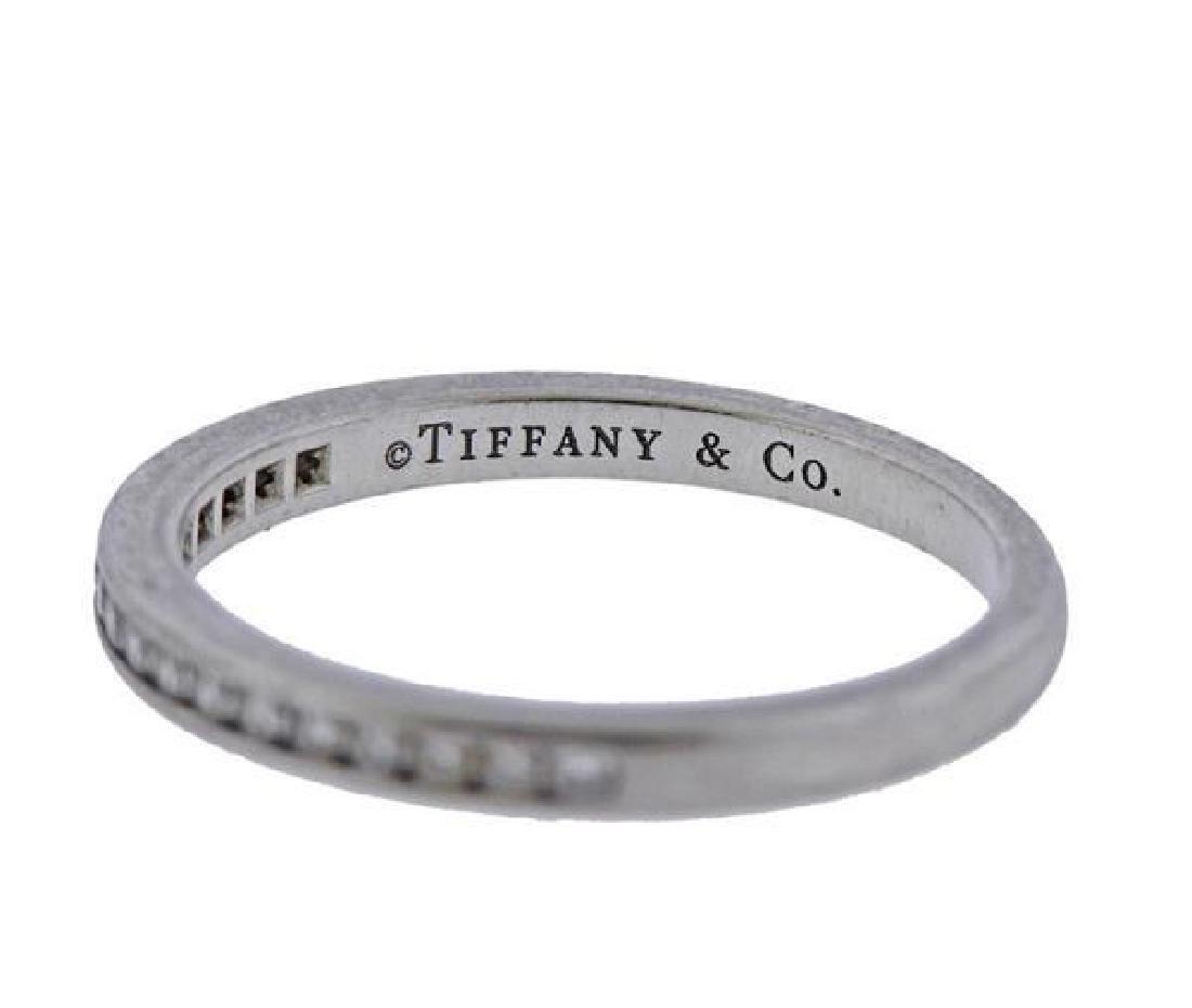 Tiffany & Co Platinum Diamond Half Band Wedding - 2