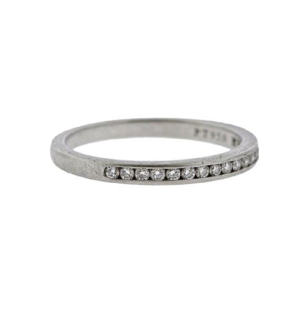 Tiffany & Co Platinum Diamond Half Band Wedding - 4