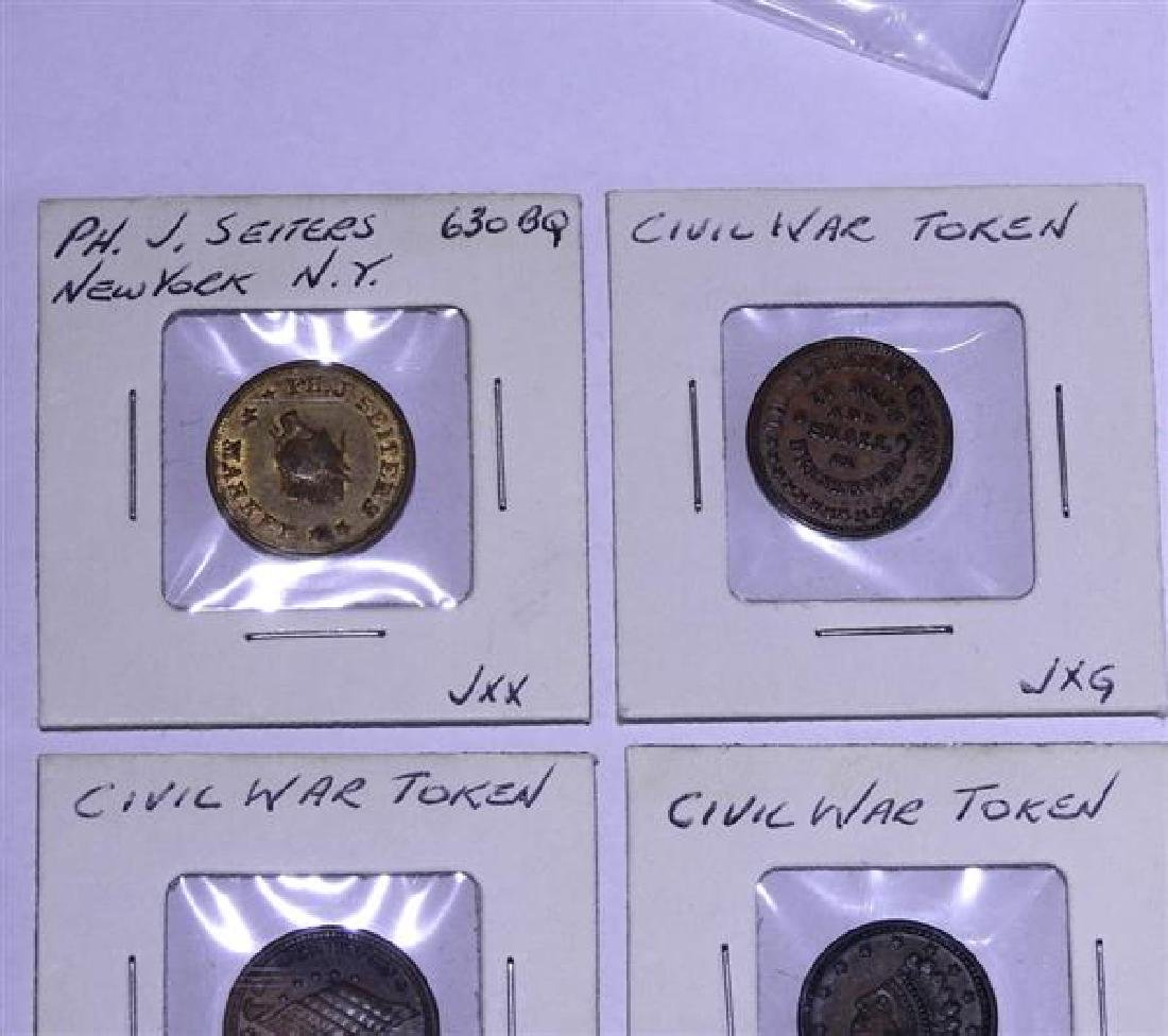 Civil War Token Lot of 4 - 2