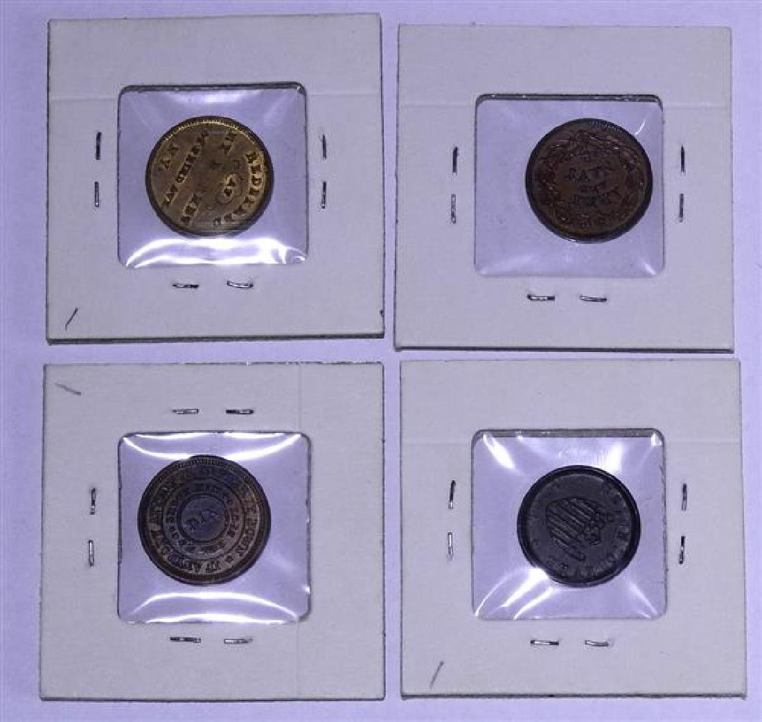 Civil War Token Lot of 4 - 4