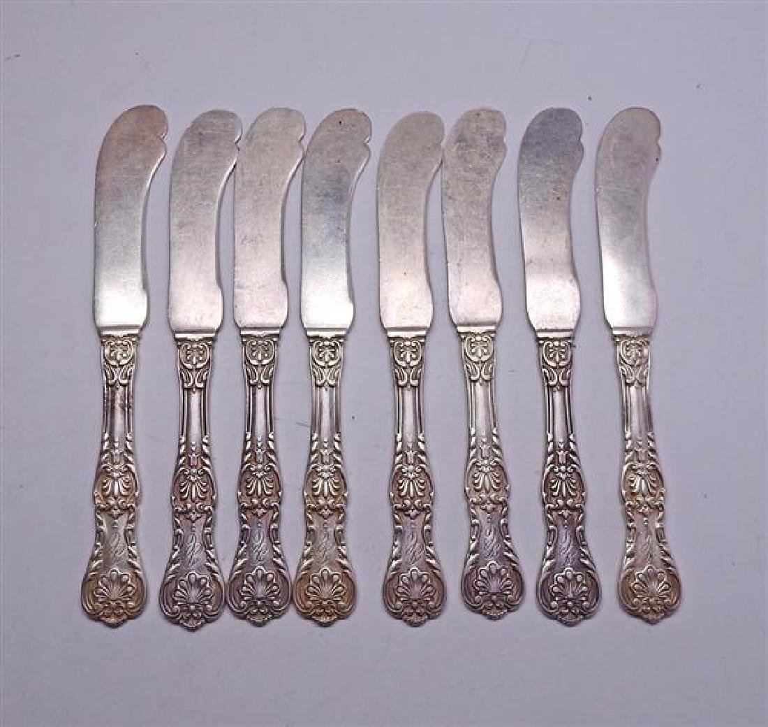 Gorham New Queens Sterling Silver Set of 8 Butter