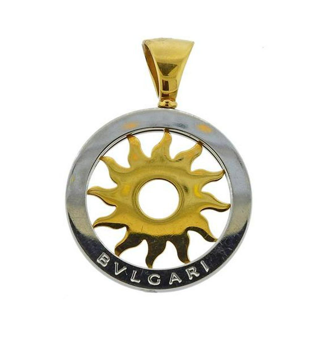 Bvlgari Bulgari 18k Gold Steel Sun Pendant