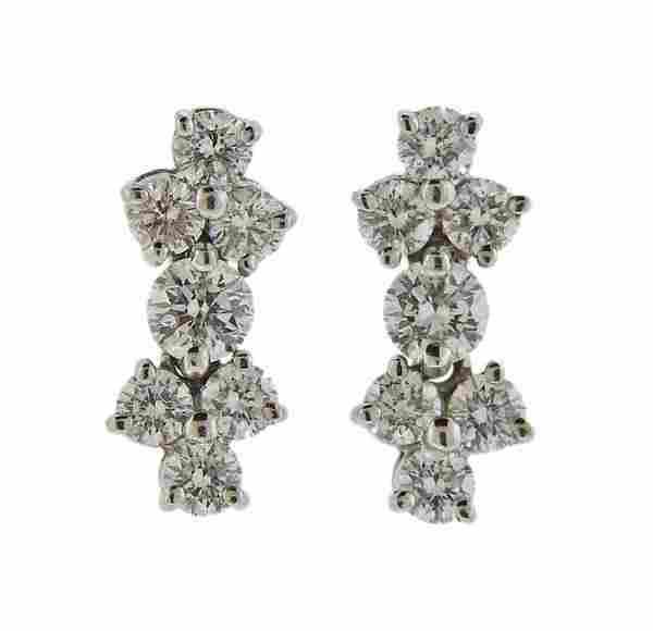 Tiffany & Co Platinum Diamond Earrings