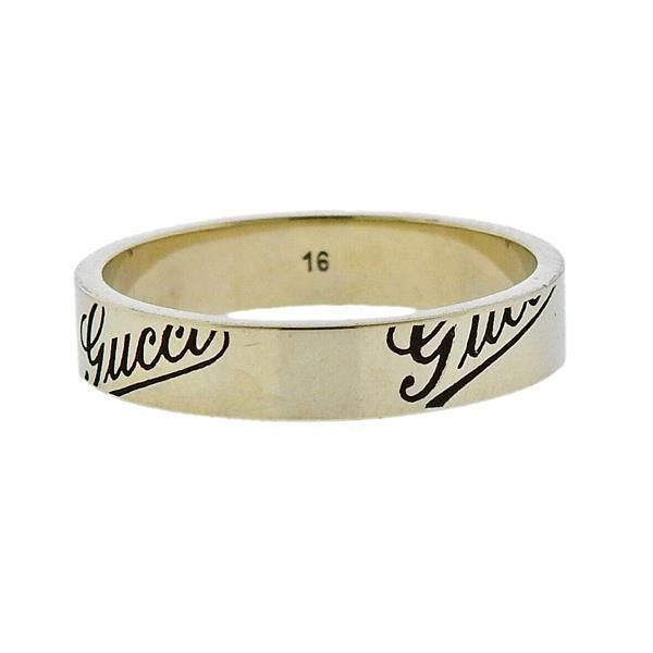 Gucci 18k Gold Band Ring Size