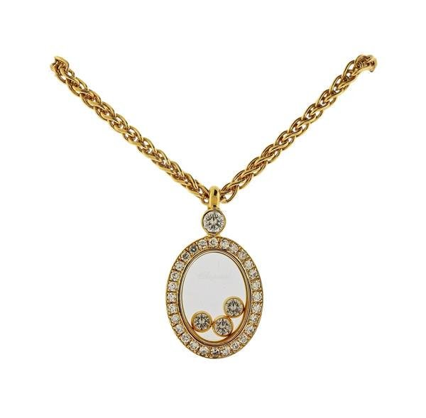 Chopard Happy Diamond 18K Gold Diamond Pendant Necklace