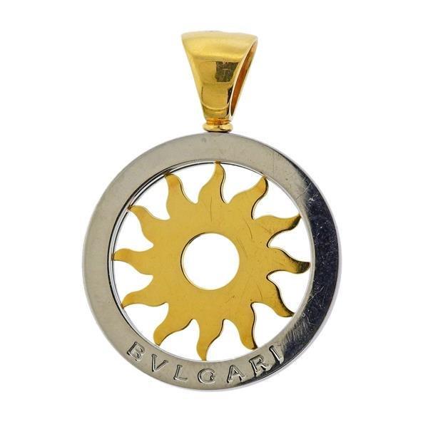 Bvlgari Bulgari 18K Gold Steel Tondo Sun Pendant