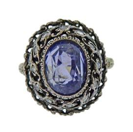 Buccellati 18k Gold 3.00ct Sapphire Diamond Ring