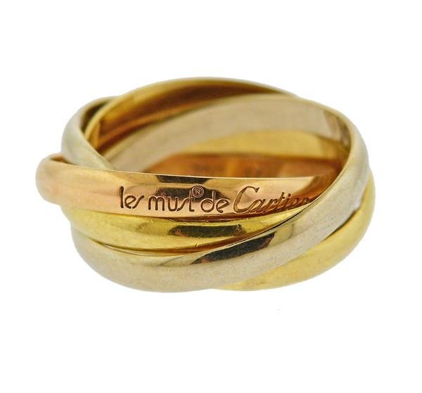 Cartier Trinity 18k Gold Tri Color Ring 51