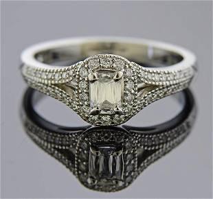 Platinum Crisscut Diamond Engagement Ring
