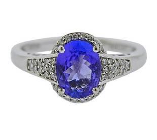 10K Gold Diamond Tanzanite Ring