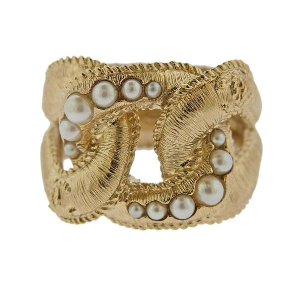 Chanel Costume Pearl Ring