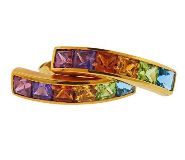 H. Stern 18K Gold Multi Gemstone Earrings