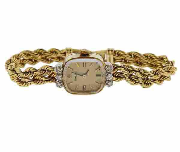 Rolex Mid Century 14k Gold Diamond Lady's Watch