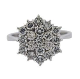 18K Gold Diamond Cluster Ring