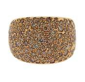 18K Gold Fancy Diamond Large Band Ring
