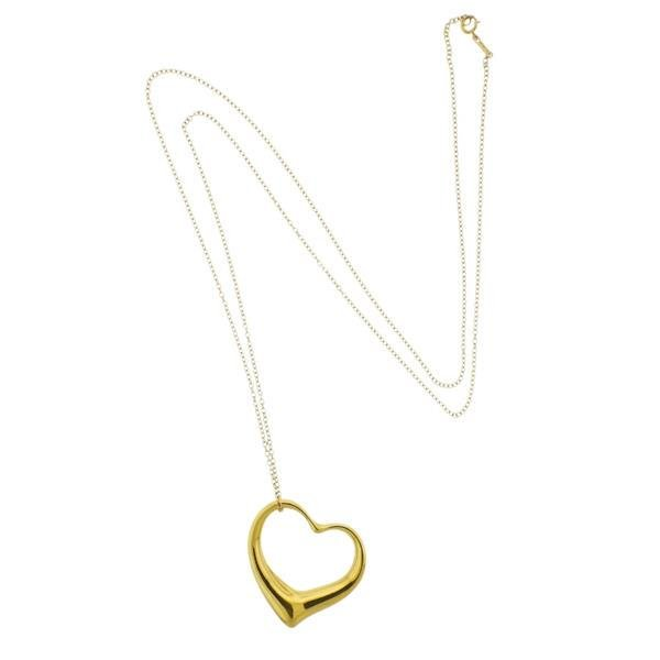 Tiffany & Co Peretti Open Heart 18k Gold Pendant