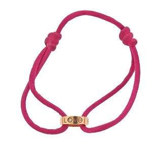 Cartier Love 18K Gold Diamond Silk Cord Bracelet