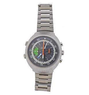 Omega 1970s Flightmaster Stainless Steel Manual Watch