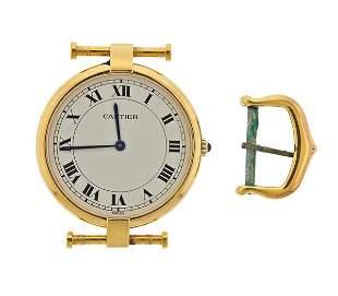 Cartier Vendome 18k Gold Watch 9256