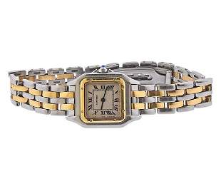 Cartier Panthere 18k Gold Steel Lady's Watch 1120