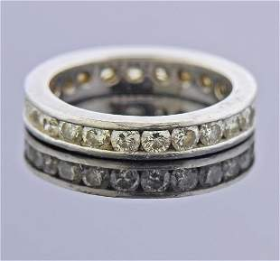 Platinum Diamond Eternity Wedding Band Ring