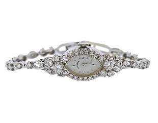 Hamilton 1950s 14k Gold Diamond Lady's Watch