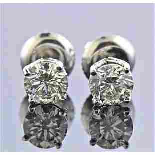 4k Gold 1.00ctw Diamond Stud Earrings