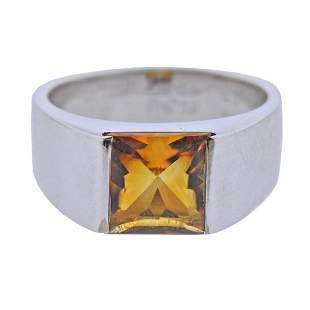 Cartier Tank 18K Gold Citrine Ring size 51