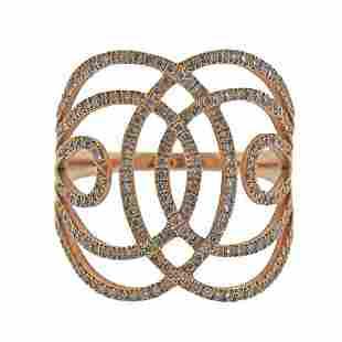 Lisonia 18K Rose Gold Diamond Ring