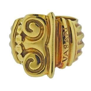 Vasari 18k Gold Scroll Ring