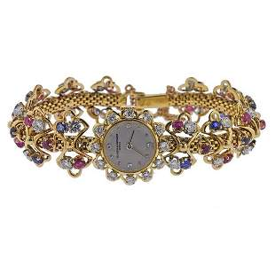 Vacheron Constantin Mid Century 18k Gold Diamond Watch
