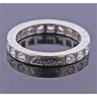 Cartier Lanieres 18k Gold Diamond Wedding Band Ring