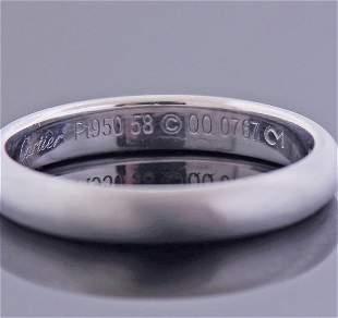 Cartier Platinum Wedding Band Ring