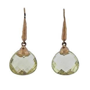 Talisman 14K Gold Quartz Drop Earrings
